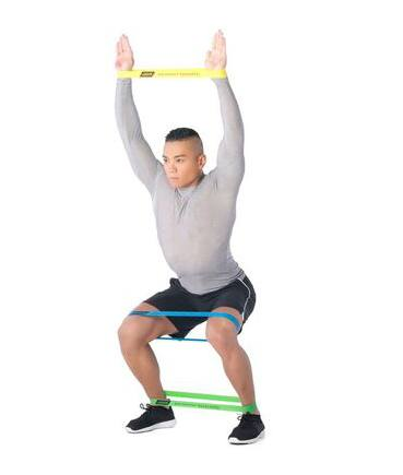 guma do ćwiczeń miniband lekka ćwiczenie na nogi, brzuch i ramiona