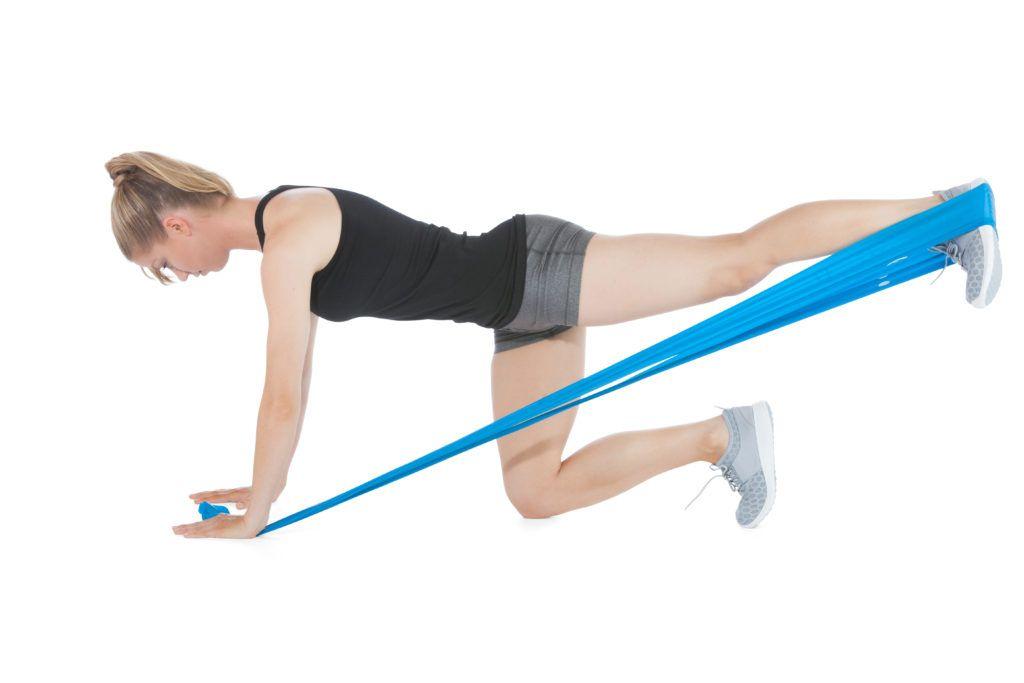 zestaw taśm do ćwiczeń power set flex ćwiczenie na pośladki