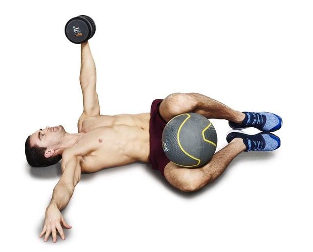 ćwiczenie na brzuch etap 2