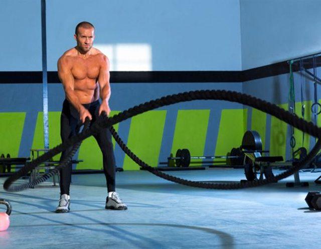 Trening z Batlle Rope cardio