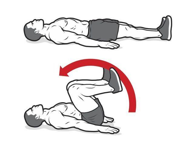 przywodzenie nóg do klatki piersiowej