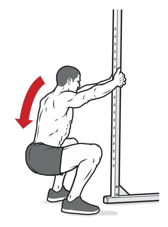 Test przysiadu siła brzucha