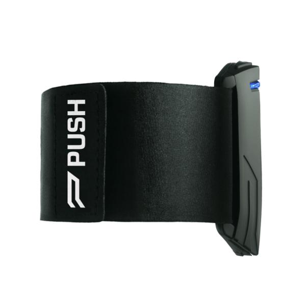 czarny sensor urządzenia push band - velocity based training