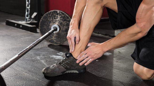 ból nogi na treningu
