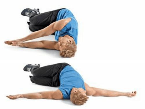 rozciąganie dynamiczne rotacja kręgosłupa