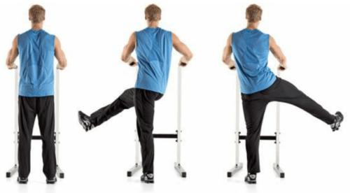 rozciąganie dynamiczne boczne wymachy nóg