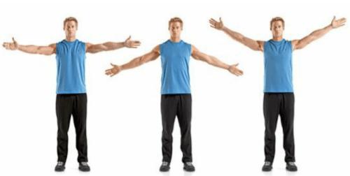 rozciąganie dynamiczne wymachy ramion